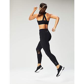 Core 10 Naiset&s Plus koko cross back urheilu rintaliivit irrotettava, musta, koko 3.0