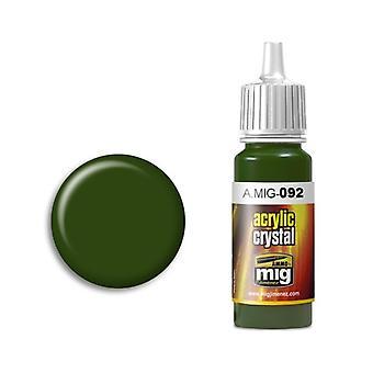 Ammo by Mig Acrylic Crystal Green (17ml)