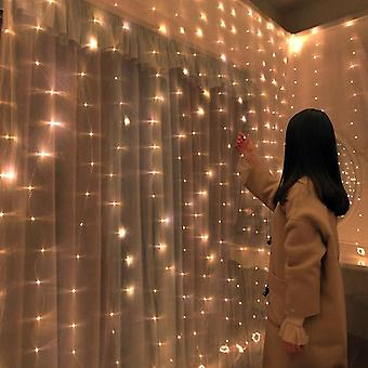 Christmas Decorations For Home - Led Curtain . Copper Wire String Valentines Fairy Lights