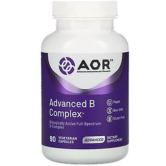 Advanced Orthomolecular Research AOR, Advanced B Complex, 90 Capsules végétariennes