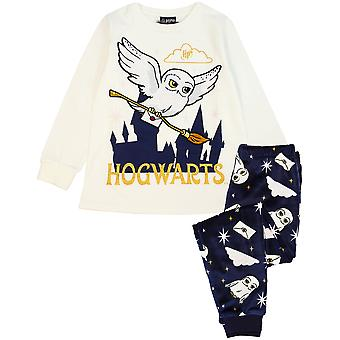Harry Potter Pyjamas Girls Hedwig Long Sleeve T-Shirt & Fleece Trousers PJ Set
