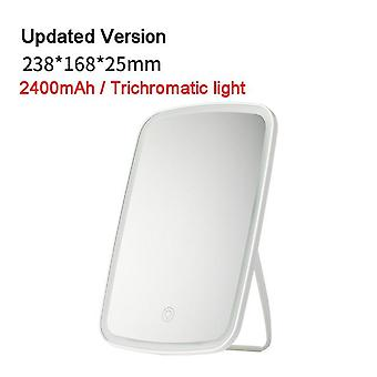 Portable Makeup Mirror Led Natural Light- Usb Refill Angle Adjustable Touch Control Brightness Dimmable Lights Women