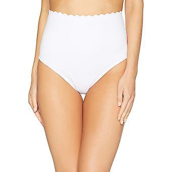 Coastal Blue Women's badkläder hög midja Bikini Botten, True White, S