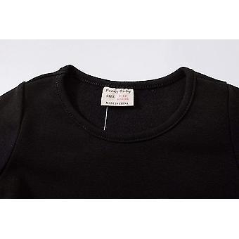 Criança infantil Baby Girls Dress Pink Ruffle Long Sleeves Cotton (12-18m(86), ...