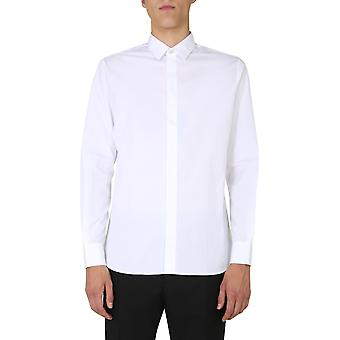 Saint Laurent 564269y217w9000 Men's White Cotton Shirt