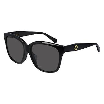 Gucci Asian Fit GG0800SA 001 Black/Grey Sunglasses