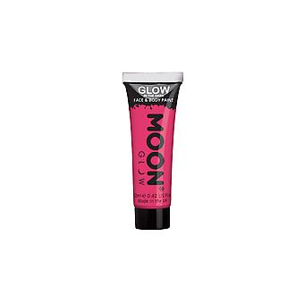 Smiffy's Moon Glow Glow In The Dark Face & Body Paint - Pink