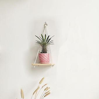 100% håndlavet Macrame Plante hanger pot bakke