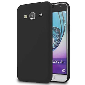 Matte Soft Shell for Samsung Galaxy J3 Shockproof Lightweight Protection Silicone Phone Black