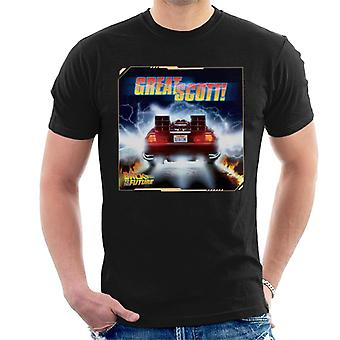 Back to the Future Delorean Great Scott Men's T-Shirt