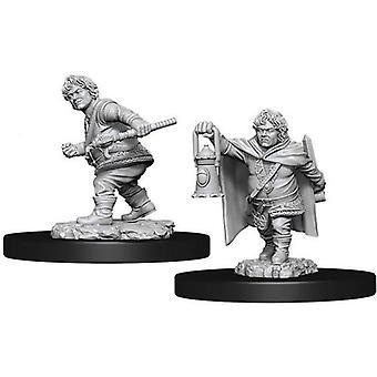 D&Dノールズール&アポス;sマーベラス未塗装ミニチュア男性ハーフリングローグ(6パック)