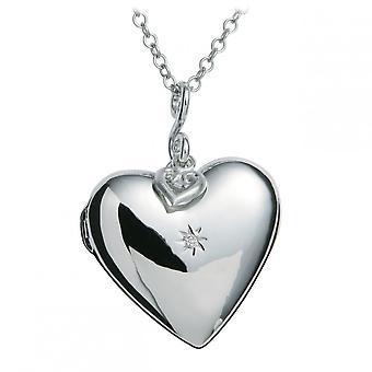 Hot Diamonds Starry Heart Silver Pendant DP132