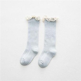 """Children""""s Knee High Socks With Lace, Baby Girls Leg Warmers"""