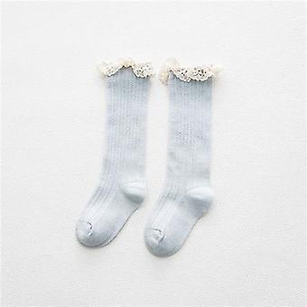 Lapset'polven korkeat sukat pitsillä, vauvan jalkojenlämmittimet