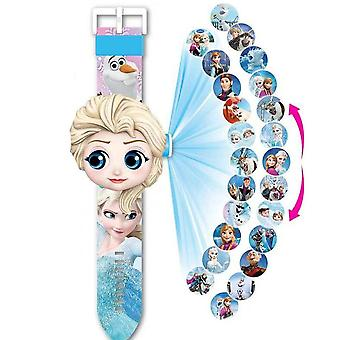 Boy, Girl - Luxury Digital Projection Watch, Car Pattern, Kids Clock