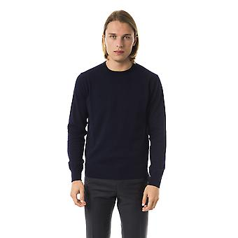 Uominitaliani Blue Extrafine Long Sleeve Sweater