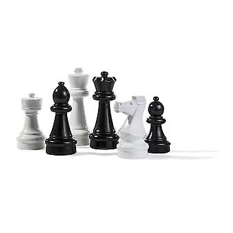 Rolly toys large chess pieces for 3 years old-Black and white