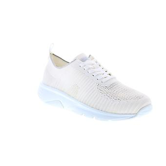 Camper Drift  Mens White Canvas Lace Up Euro Sneakers Shoes