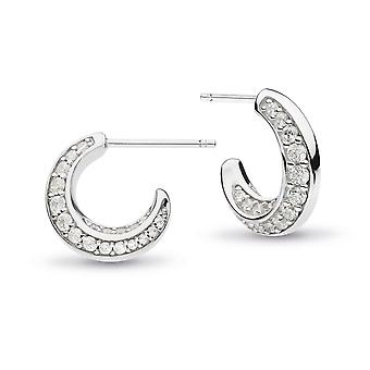 Kit Heath Bevel Cirque Cubic Zirconia Pavé Semi-Hoop Stud Earrings 3151CZ