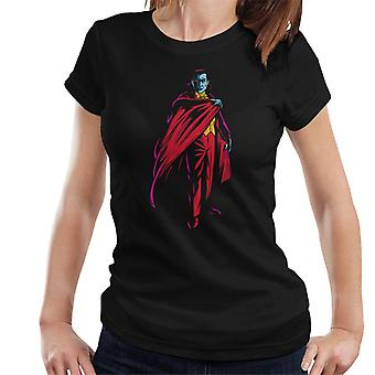 Dracula Cape Pose Dark Blood Illustration Women's T-Shirt