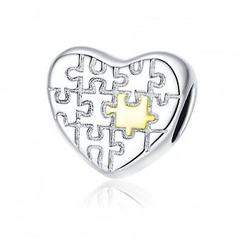 Sterling Silver Charm Love Puzzle - 6889