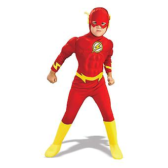 Rubie & #039;s officielle dc superhelt flash deluxe barn & #039; s kostume, børnestørrelse medium alder 5-6 år m