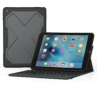 ZAGG Rugged Messenger Keyboard Filo Case for 9.7-inch iPad 2017 and 2018 QWERTY