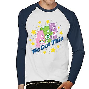 Care Bears Share Bear We Got This Men's Baseball Long Sleeved T-Shirt