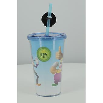 Exclusive Super Mario Carnival Cup With Mushroom Straw