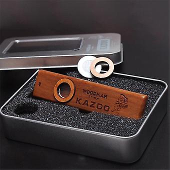 Puinen Kazoo Orff huuliharppu metallilaatikolla