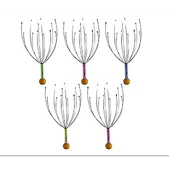 5 Pack Handheld Head Massage Tingler, Scratcher For Deep Relaxation, Hair Stimulation And Stress Relief