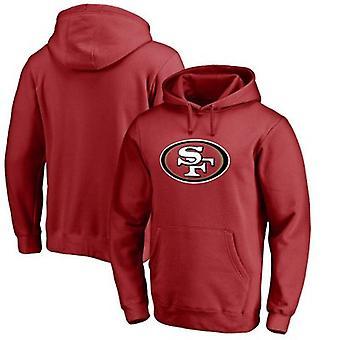 San Francisco 49ers Loose Hooded Sweatshirt Hoodie Tops WYK026