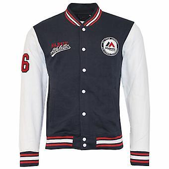 Majestic Athletics Mens Bomber Baseball Jacket Fleece Navy A6MAJ5504NVY012 A14E