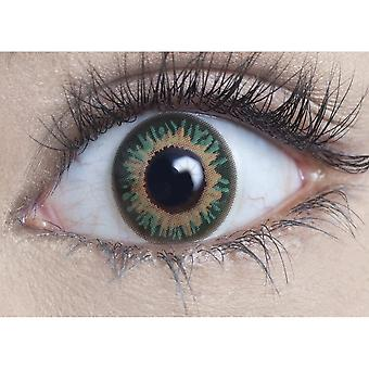 Hunt Or Dye Persian Green Contact Lenses - 1 Day / Use Natural Fancy Dress Accessories