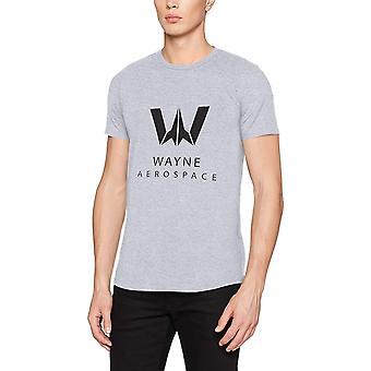 Justice League Unisex Adults Wayne Aerospace Design T-shirt