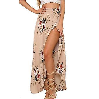 女性のファッション花のロングマキシ、フルスカート