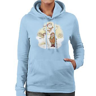 ホリーホビークリスマススノーマンレディース&アポ;sフードスウェットシャツ