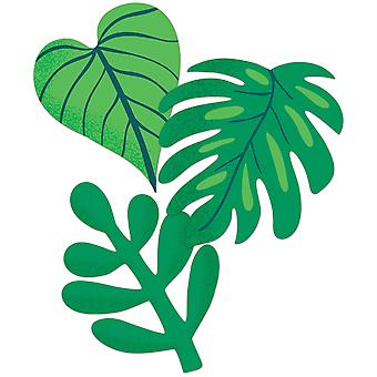 One World Tropical Leaves Extra Large Cut-Outs, 12 por paquete, 3 paquetes