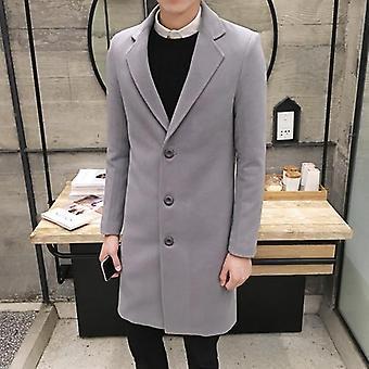 Toamnă-iarnă Menăs Woolen Coat Slim Long Trench Jacket