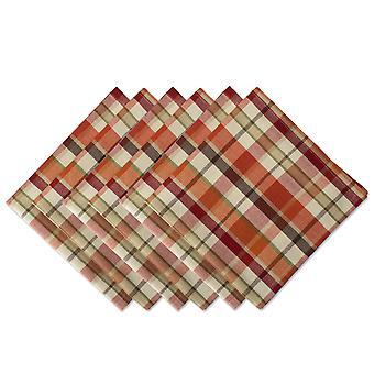 Dii calabaza especiada napkin (conjunto de 6)