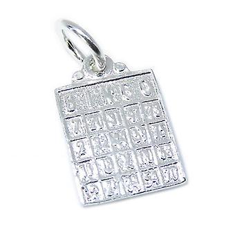 Bingo Card Sterling Srebrny Urok .925 X 1 Bingoing Charms - 7315