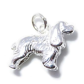 Cocker Épagneul Sterling Silver Charme .925 X 1 Chien Chiens Épagneuls Charmes - 8245