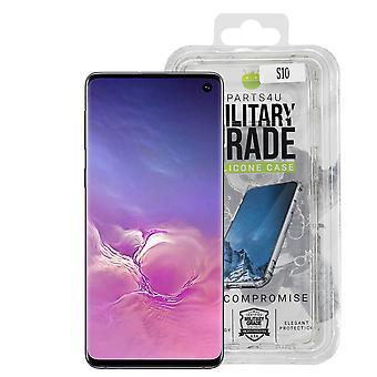 iParts4u Military Grade Silicone Case - Samsung Galaxy S10 - Clear