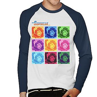 Supercar Mitch The Monkey Men's Baseball Long Sleeved T-Shirt