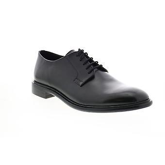 Geox U Guildford Herren schwarz Leder Oxfords & Schnürsenkel einfache Zehenschuhe