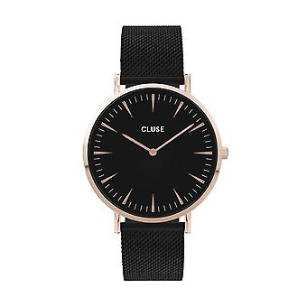 Cluse Unisex La Behème Black Circle Quartz Fashion Watch CW0101201010