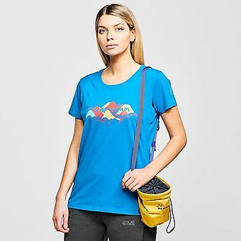 New LA Sportiva Women's Hills Short Sleeve T-Shirt Blue