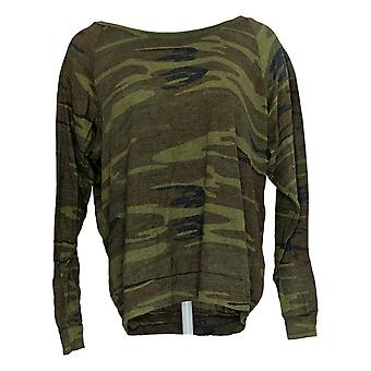 Abbigliamento alternativo Top Eco Jersey Camo Print Slouchy Green A343355
