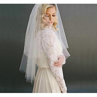 Fashion White Short Bridal Veil