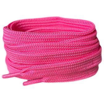 Neon Pink Flat Trainer Shoelaces Laces